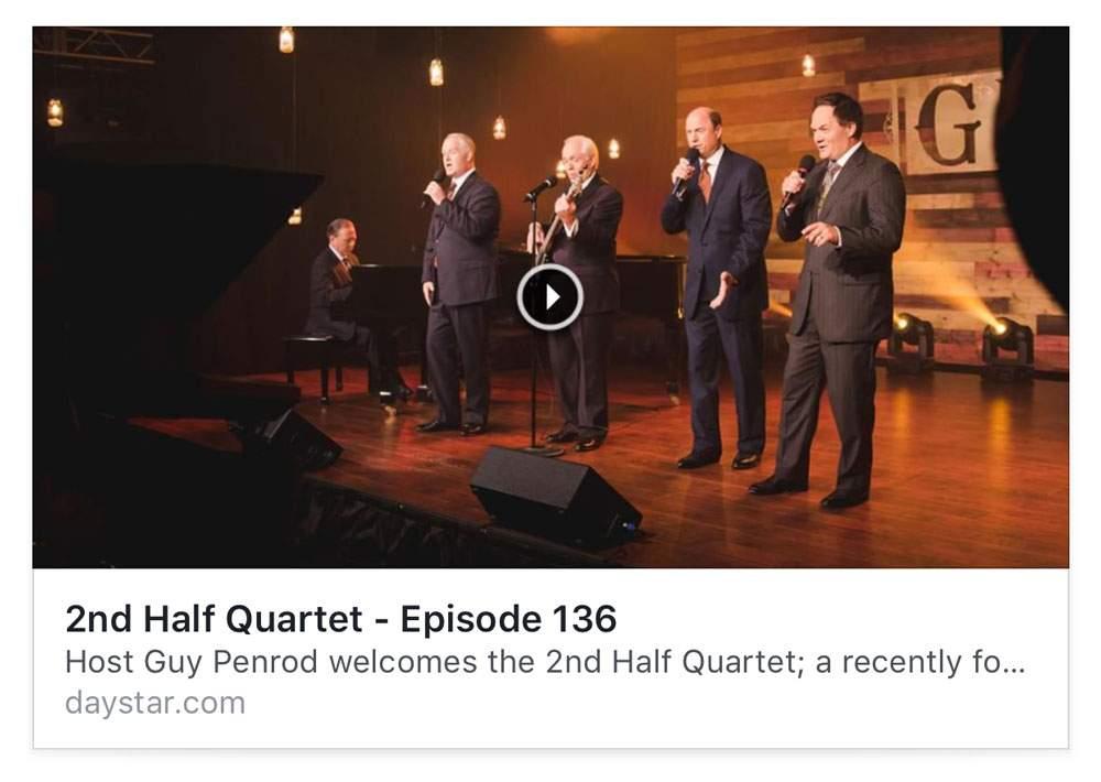 Second Half Quartet on Gospel Music Showcase – Mark Trammell